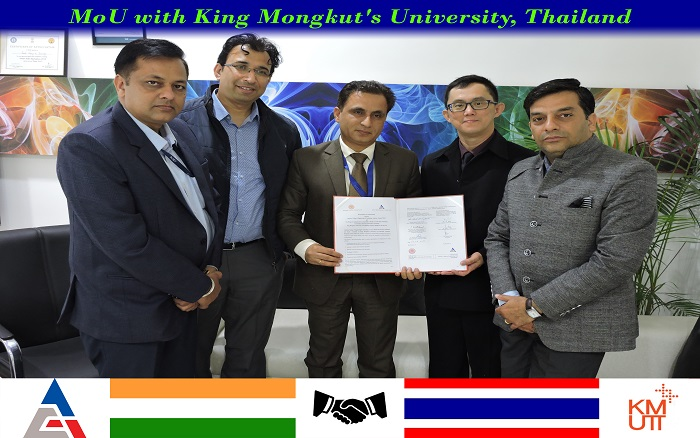 MOU with King Mongkut's University of Technology Thonburi, Thailand