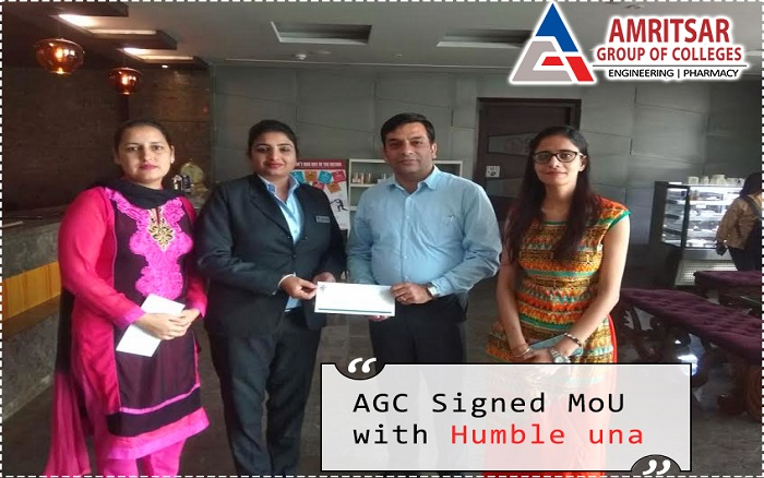 Amritsar Group of Colleges Signed an MoU with Humble una