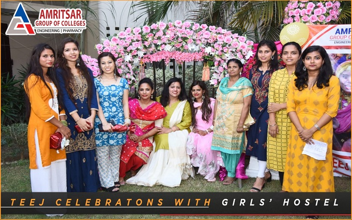 TEEJ CELEBRATION WITH THE GIRLS OF GIRLS' HOSTEL