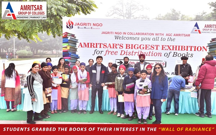 "Students Grabbed Free Books From ""Wall Of Radiance"""